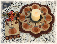 Autumn Beauty Wool Felt Mat Pattern
