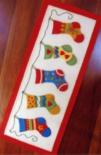 And The Stockings Were Hung Embroidery/Applique pattern