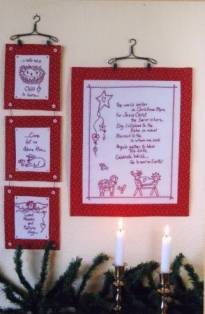 Christmas Prayer Redwork embroidery pattern