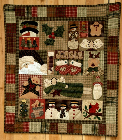 Christmas Sampler Applique Pattern