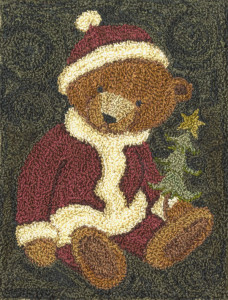 Santa Bear Punch Needle Pattern
