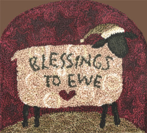 Blessings to Ewe Punch Needle Pattern