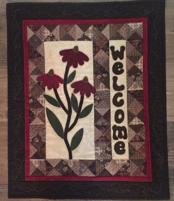 Cone Flower Welcome Pattern