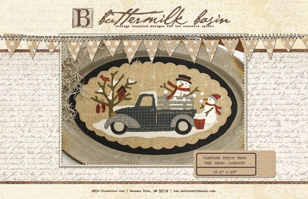 Buttermilk Basin Large Vintage Truck January BMB 1327